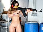 Pic of Remy LaCroix in bangbrosclips episode: Dirty Blonde White Girl Shoots Guns and Sucks Dick