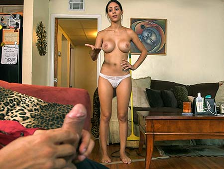 Big tit Latina maid gets fucked