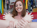 Pic of Nikki Rhodes in magicalfeet episode: Red + Purple = Pleasure