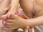 Pic of London Keyes in magicalfeet episode: London Keyes Sensitive Feet