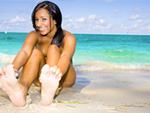Pic of Kim Kennedy in magicalfeet episode: Beachside Feet Fun