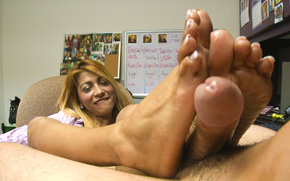Foot jobs porn naked women