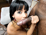 monstersofcock: Latina takes a big black dick