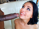 monstersofcock: She takes her first big black dick in her small white body