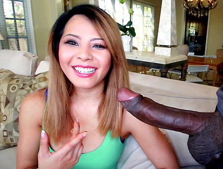 Petite Amateur Asian Fucked By Huge Black Cock Monsters of Cock