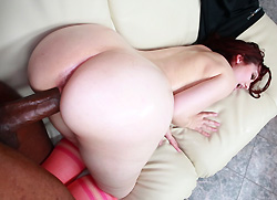 monstersofcock: Amateur Redhead With A Huge Ass Fucked Hardcore