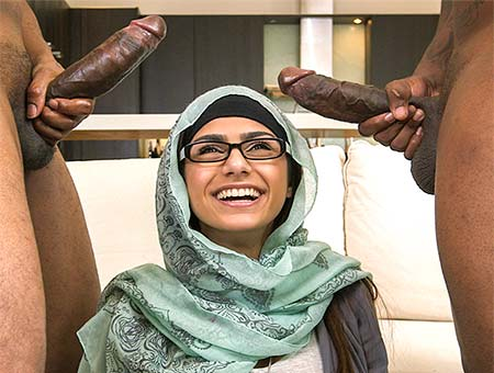 Mia Khalifa's First Monster Cock Threesome Monsters of Cock