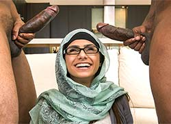 monstersofcock: Mia Khalifa's First Monster Cock Threesome