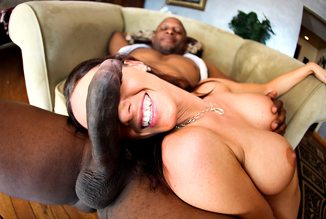 Jennifer Dark riding big black cock