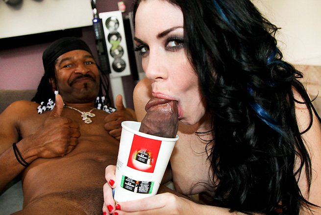 Yo this week we have the Legendary Jack Napier and Andy San Dimas. Shes gonna get monster stomped by his massive cock. Andy Loves big monster cocks, So watch her stretch her mouth wide open putting that dick in in there. Check out her trying to squeeze in the rod into her tiny pussy in all the good positions. Like Missionary, Doggy, Reverse Cowgirl and more!! I know Andy San Dimas sounds like a guys name, but trust me she is anything but. She`s got a tight ass and amazing set of tits. You`ll be wanting to gape her open too!