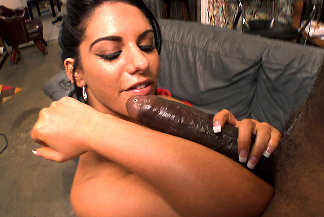 Girl Deepthroats a Monster Cock