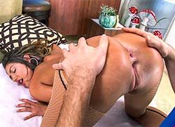 pawg: August Ames orgasms on the dick