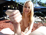 Pic of Tugjobs in Petite blonde knows how to jerk a guy off till he cums