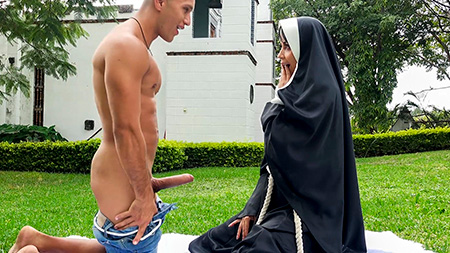 Dirty Nun Fucks The Gardener