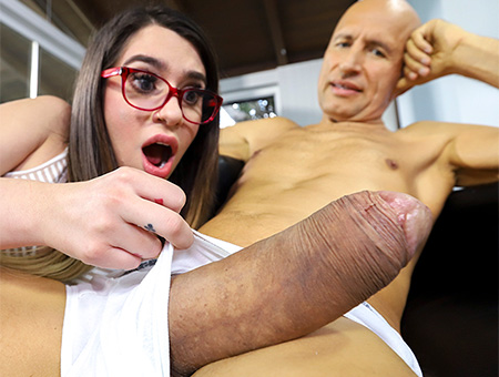 Magazine Sales Girl Rides a Giant Dick