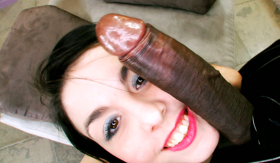 Young Black Teen White Cock