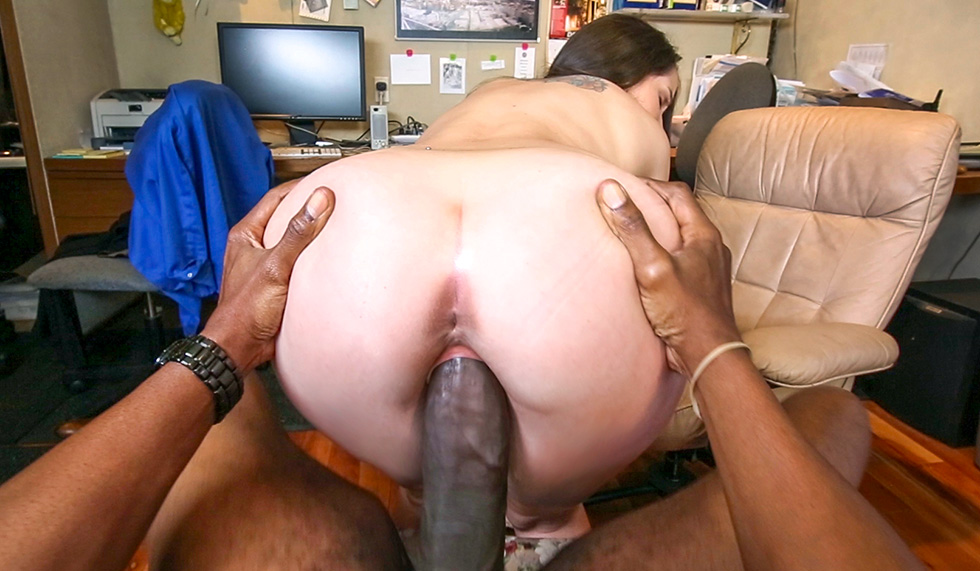 White Girl Rides Black Cock
