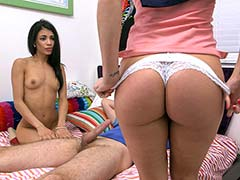 Stepmom threesome with the bf